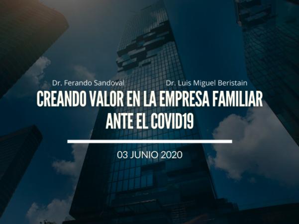 Creando Valor en la Empresa Familiar ante el COVID19