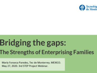 "Charla ""Bridging the gaps: The Strengths of Enterprising Families"""