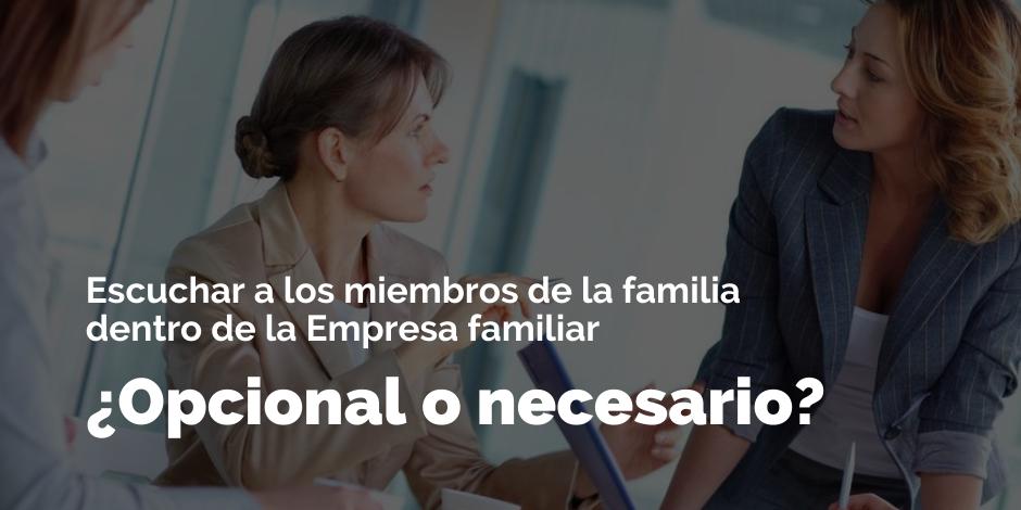 Escuchar a los miembros de familia dentro de la EF ¿Opcional o necesario? | Blog
